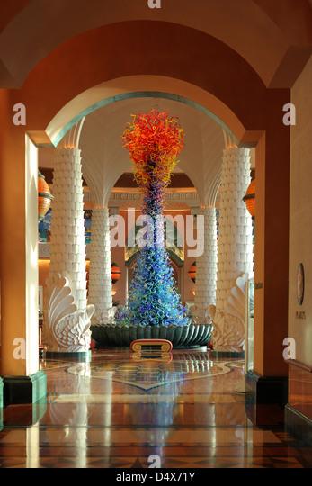 Atlantis hotel lobby, Dubai, United Arab Emirates - Stock Image