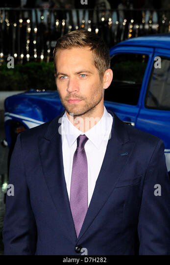 London, UK. 7th May, 2013. Paul Walker attends The World Premiere of Fast & Furious 6 at the Empire London. - Stock Image