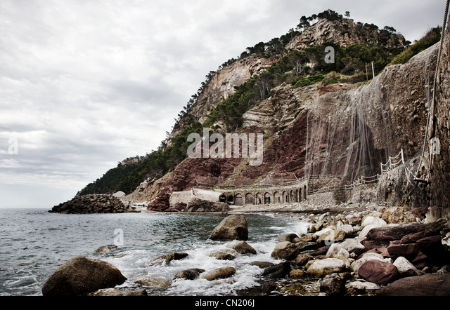 Sea and rocks, Majorca, Spain - Stock Image