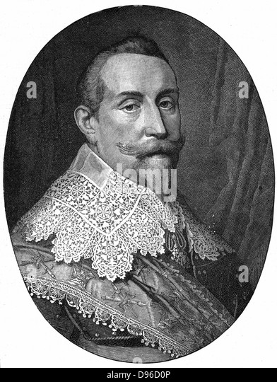 Gustav II Adolf (Gustavus Adolphus 1594-1632) King of Sweden from 1611. Leader of Protestants in Thirty Years War. - Stock Image