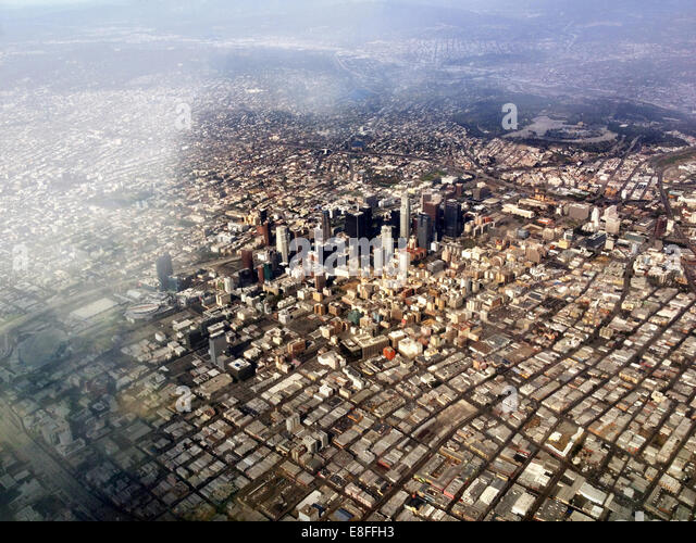 Aerial view of Los Angeles, California, America, USA - Stock-Bilder
