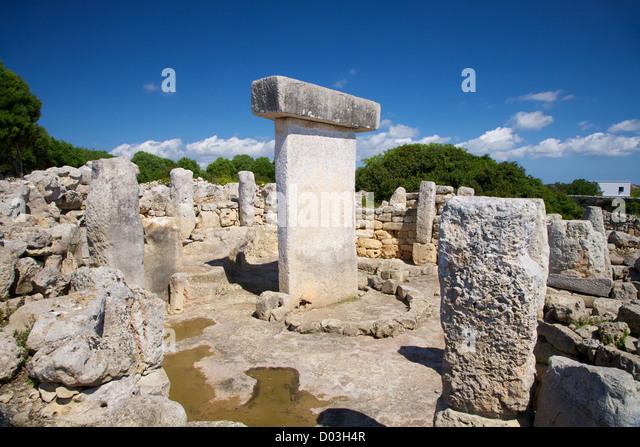 Torralba den Salord prehistoric town at Menorca Island in Spain - Stock Image