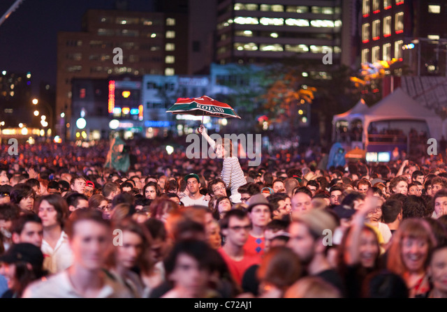 Canada,Quebec,Montreal, Montreal Jazz Festival, crowd of people - Stock Image