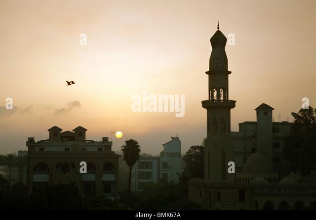 Sunrise over Cairo, Egypt, Africa - Stock Image