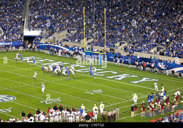 American Football Game Kentucky Wildcats against Georgia Bulldogs College team Lexington Kentucky United States - Stock Image