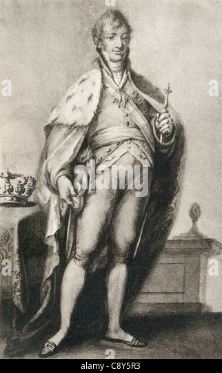 Ferdinand VII, aka Ferdinand the Desired or The Felon King, 1784 – 1833. King of Spain. - Stock Image