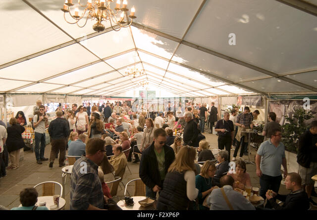 york food festival inside marque street fair fayre fairs fairs festivals uk - Stock Image