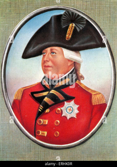 George III (George William Frederick). Portrait of the King of Great Britain and King of Ireland. After a miniature - Stock Image