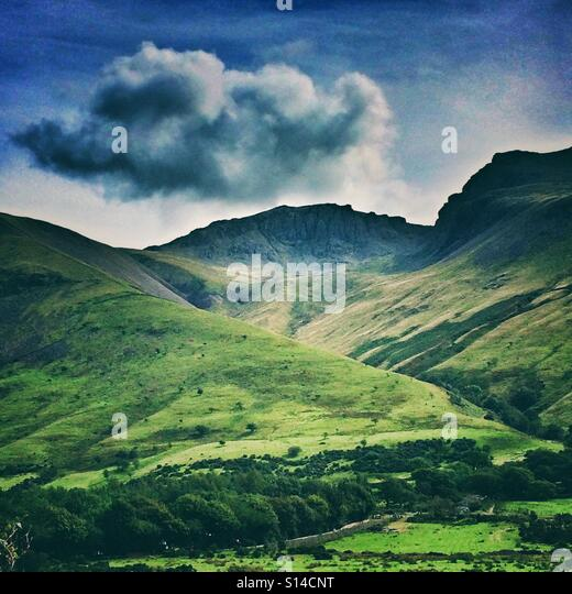 Scafell Pike, Cumbria, England - Stock Image