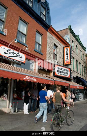 Schwartz  Boulevard saint Laurent Montreal - Stock Image