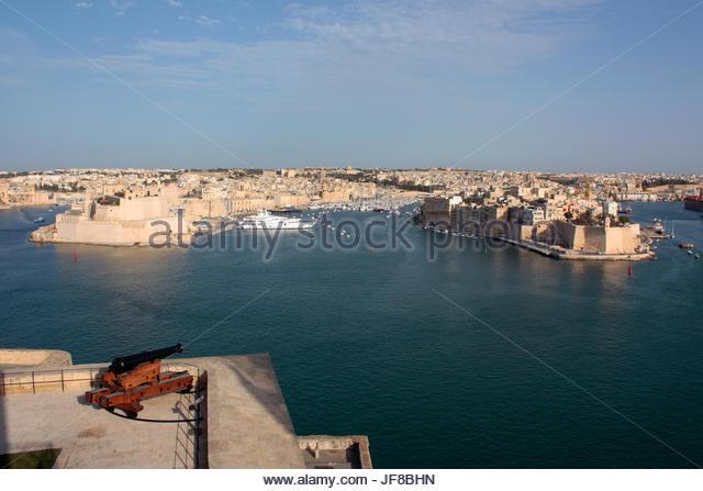 The Grand Harbour of Malta, a Mediterranean travel and tourism destination - Stock-Bilder