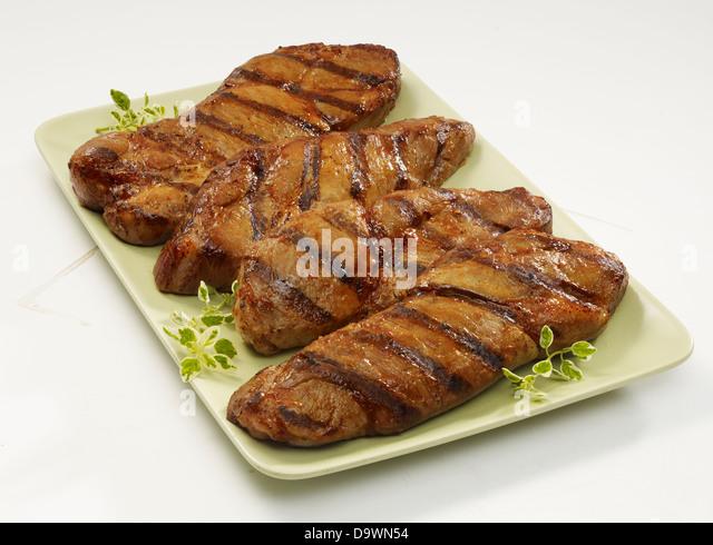 prepared pork shoulder boneless - Stock Image