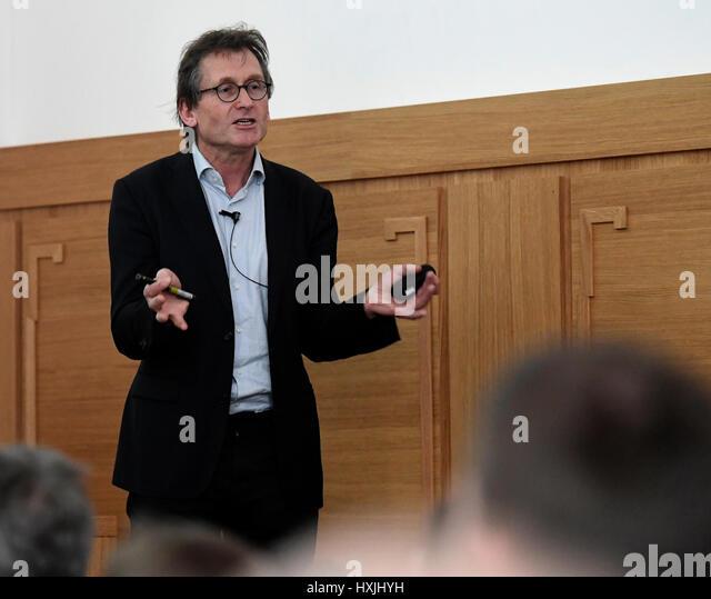 Prague, Czech Republic. 29th Mar, 2017. 2016 Nobel Chemistry Prize winner Ben Feringa opens Molecular Rotor Workshop - Stock-Bilder