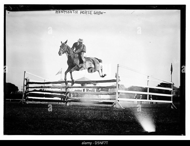 Monmouth Horse Show [jumping] (LOC) - Stock Image