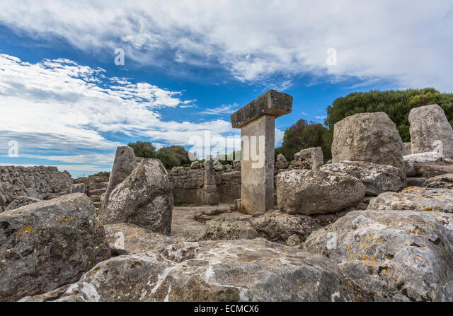 Torralba d'en Salord, talaiotic and medieval village, megaliths, 2000 BC, archaeological site, Menorca, Balearic - Stock Image