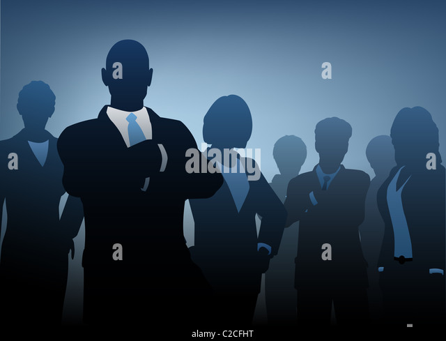 Illustration of silhouettes of a business team - Stock-Bilder