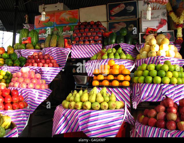 Fruit Stall - Stock Image