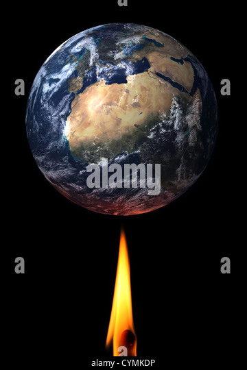 Global Warming theme image/illustration. - Stock Image