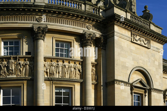 Detail of the 18th century Guildhall, Bath, England - Stock Image