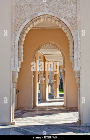 King Hassan II mosque, Casablanca, Morocco - Stock Image