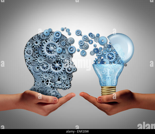 Concept of creating ideas and achievement symbol of aspiration success as two hands holding a group of connected - Stock Image