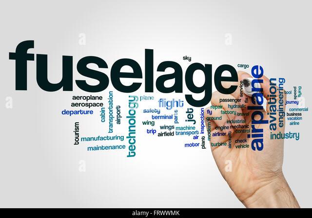 Fuselage word cloud - Stock Image