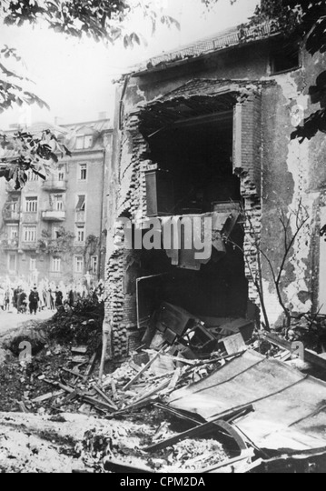 Destroyed house in Munich, 1940 - Stock Image