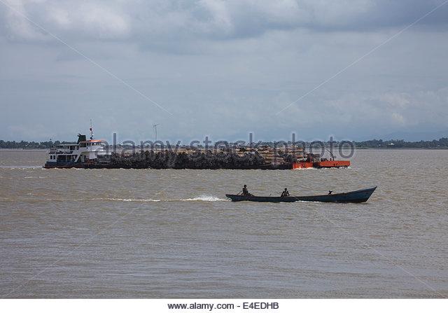 Teakwood, transportation, ship, Mingon - Stock-Bilder