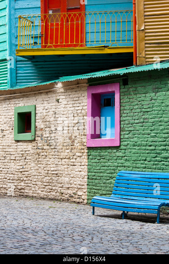 Colorful Building in La Boca, Buenos Aires - Stock Image