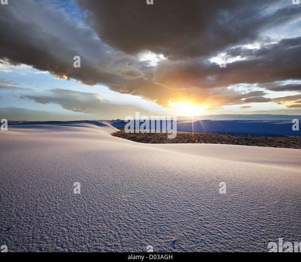 White Sands Park in USA - Stock Image