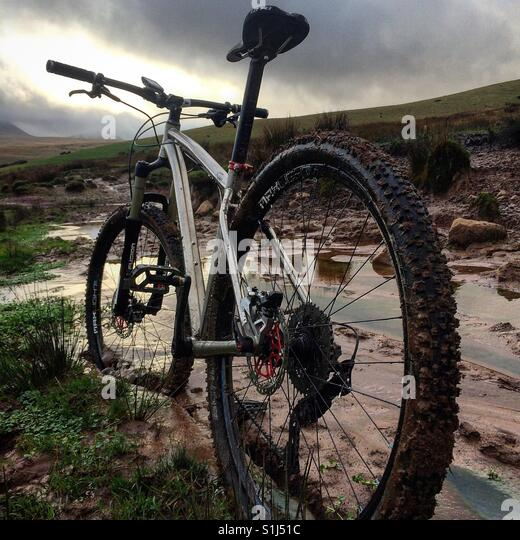 Mountain Biking and Cycling in the UK - Stock Image