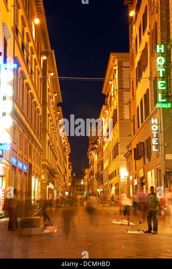 Florence, Old twon at Dusk, Tuscany. Italy. Europe - Stock Image