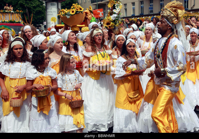 Germany Berlin Carnival of Cultures group of singers - Stock-Bilder