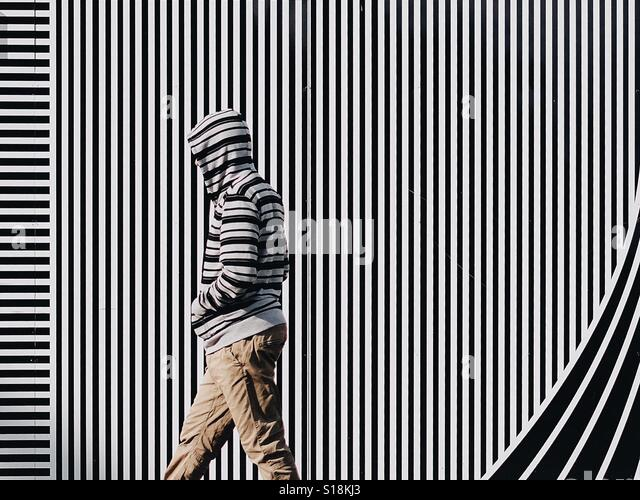 Stripey walker - Stock-Bilder