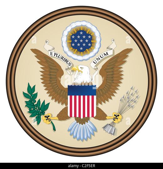 USA seal - Stock Image