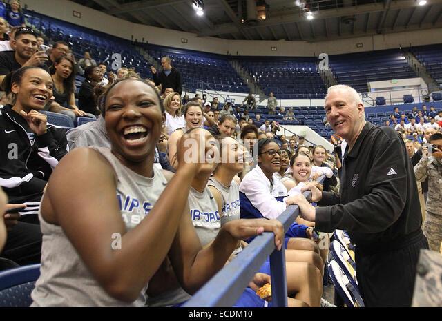 Oct 2, 2013 - Colorado Springs, Colorado, U.S. - San Antonio Spurs head coach GREGG POPOVICH draws a laugh from - Stock Image