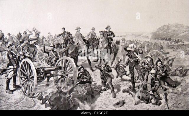 The Battle of Doornkop - Stock Image