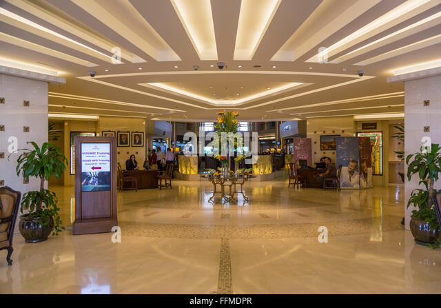 The Royal Hotel interior lobby in Amman, Hashemite Kingdom of Jordan, Middle East. - Stock Image