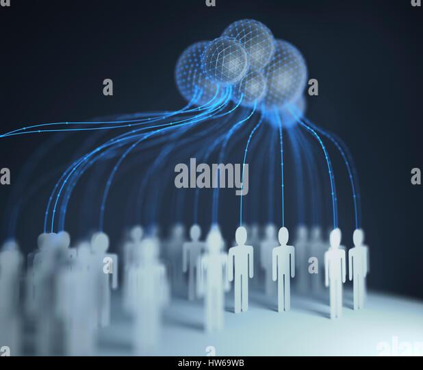 Cloud computing, conceptual illustration. - Stock-Bilder