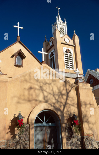 Albuquerque New Mexico San Felipe De Neri Church founded by Franciscan friars NM NM - Stock Image