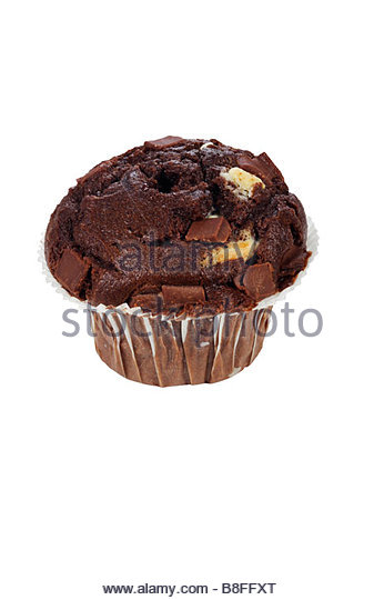 Chocolate muffin - Stock Image