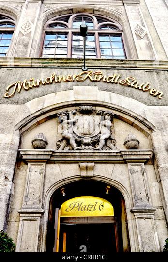 Beer cellar in munich; Bierkeller in München - Stock-Bilder