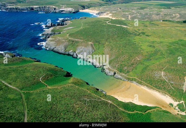 Belle ile aerial view stock photos belle ile aerial view for Port donnant belle ile