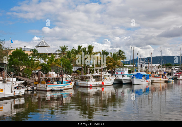 Australia, Queensland. A section of the harbour at Port Douglas in Northern Queensland. - Stock Image