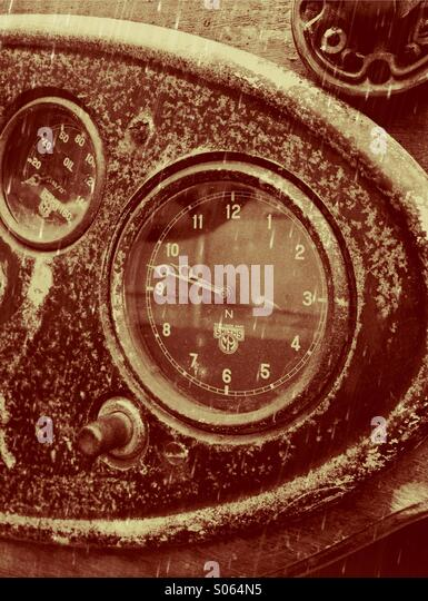 Close up of vintage car controls - Stock Image