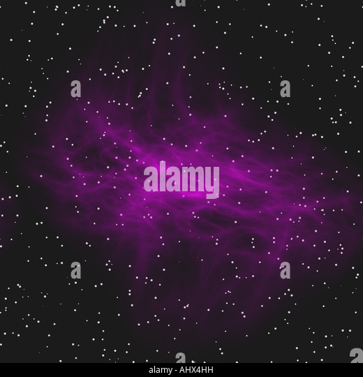 a nice large image of a cloudy nebula in space - Stock Image