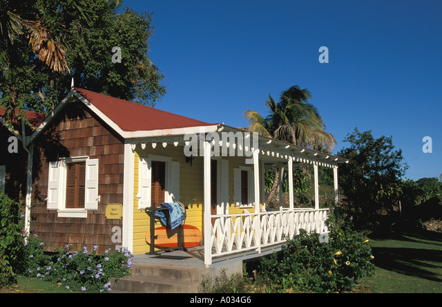 Nevis Hermitage Plantation hotel - Stock Image