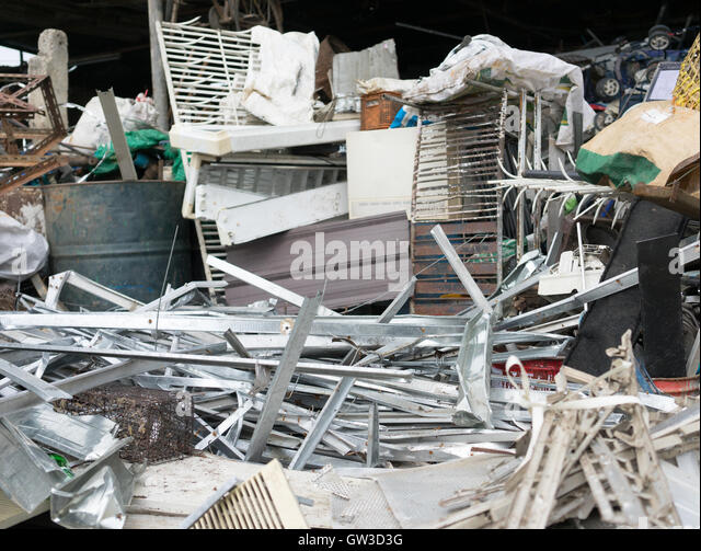 many kind of waste beffor select for recycle - Stock Image