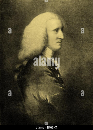 Sir George Lyttleton, Baron. - portrait.  British politician, statesman, patron of the arts and friend of Henry - Stock Image