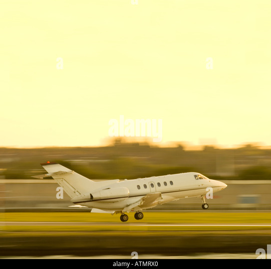 Corporate business jet - Stock Image